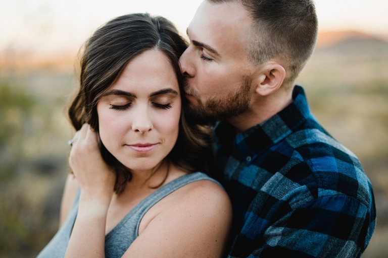 Engagement photo of couple in phoenix